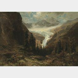 Friedrich Ludwig Hofelich (German, 1842-1903)      Alpine Glacier