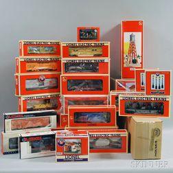 Set of Twenty-five Lionel O Gauge Model Trains and Accessories