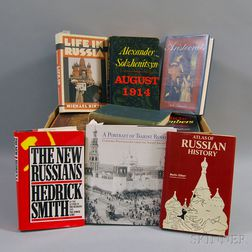 Approximately Fifty Books on Russian History, the USSR, and European Royalty.     Estimate $75-125