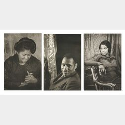 Carl Van Vechten (American, 1880-1964)      Three Portraits from the Portfolio O, Write My Name  : Paul Robeson