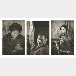 Carl Van Vechten (American, 1880-1964)      Three Portraits from the Portfolio O, Write My Name  : Paul Robeson