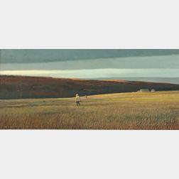 Eric Sloane (American, 1905-1985)      The Long Shadow