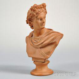 Danish Terra-cotta Bust of Apollo