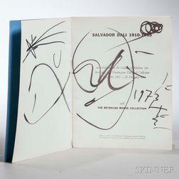 Dali, Salvador (1904-1989) Exhibition Catalog, Signed Copy.