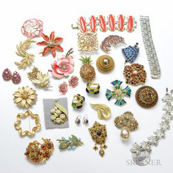 Large Lot of Designer Costume Jewelry