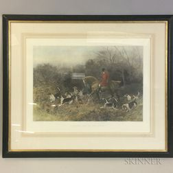 Three Framed British School Sporting Colored Lithogrpahs