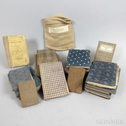 Small Group of 19th Century Cloth-covered School Books.     Estimate $200-250