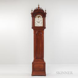 Carved Mahogany Tall Case Clock