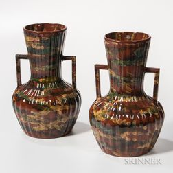 Pair of Peters & Reed Pottery Vases