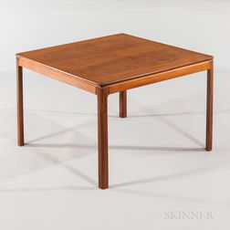 Dux Square Teak Veneer Low End Table