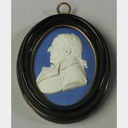 Wedgwood Dark Blue Jasper Dip Portrait Medallion of Thomas Byerley