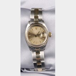 Lady's Bicolor Stainless Steel Wristwatch, Rolex