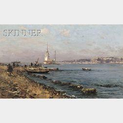 Fausto Zonaro (Italian/Turkish, 1854-1929)      Torre de Leandro