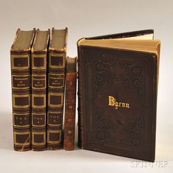 Lord Byron (1788-1824) Five Volumes: