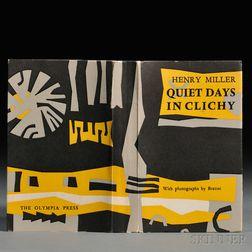 Miller, Henry (1891-1980) Quiet Days in Clichy