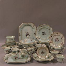 "Partial Adams Calyx Ware ""Regent"" Pattern Ironstone Dinner Service"