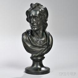 Wedgwood & Bentley Black Basalt Bust of Locke