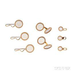18kt Gold and Enamel Dress Set, Cartier