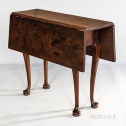 Small Queen Anne Maple Rectangular Drop-leaf Table