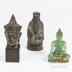 Three Buddhas and a Guanyin