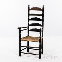 Tall Five-slat Ladder-back Armchair