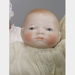 German Bisque Head Bye-Lo Baby Doll