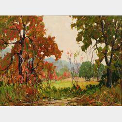 Robert Shaw Wesson (American, 1902-1967)    Early Fall, Lexington, Mass