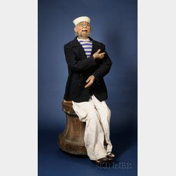 """Life-Size Laughing Sailor Automaton from the Film """"Sleuth"""""""