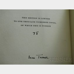 (African-American), Toomer, Jean (1894-1967), Signed copy