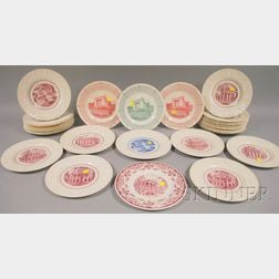 Twenty-nine Wedgwood University of Virginia Ceramic Plates