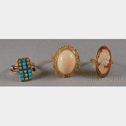 Three Assorted Gold Rings