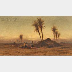 Robert Swain Gifford (American, 1840-1905)      Bedouin Encampment