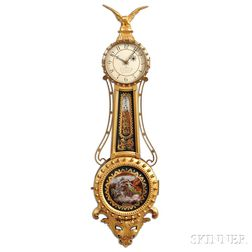 L. Curtis Girandole Clock Attributed to Elmer Stennes
