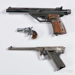 Two Target Pistols and a Pocket Deringer