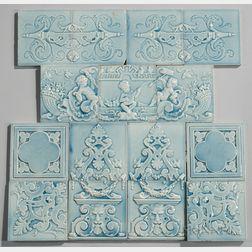 Fifteen Trent Tile Company Art Pottery Tiles