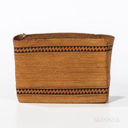 Northwest Coast Twined Rectangular Basket