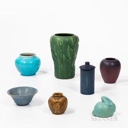 Seven Pieces of Arts and Crafts Pottery