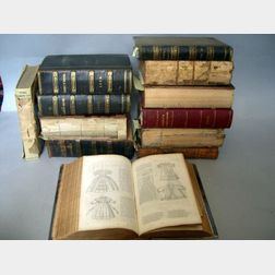 Eleven Bound Volumes of Godey's Lady's Books