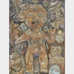 American School, 20th Century      Mayan Image.