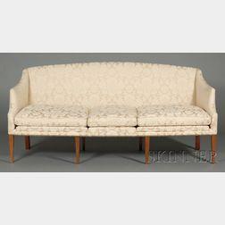 Hepplewhite Mahogany Upholstered Sofa