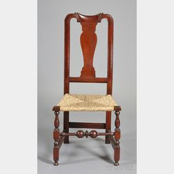 Queen Anne Carved Yoke-back Side Chair
