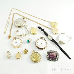 Group of Watches and Other Jewelry