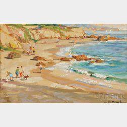 Wayne Beam Morrell (American, 1923-2013)    La Jolla - Cove, Spring, 1983