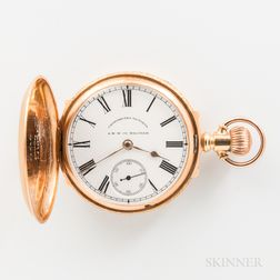 Waltham 18kt Gold Semi-box Hunter-case Watch
