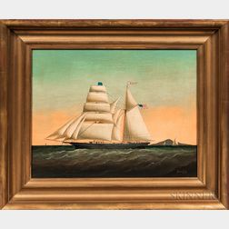 Brian Coole (act. United States/England, b. 1939)      Portrait of an American Sailing Ship