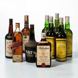 Mixed Whiskies, 10 bottles
