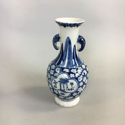 "Blue and White ""Hawthorn"" Vase"