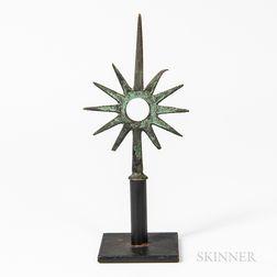 Small Copper Star-form Finial
