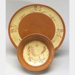 Scheier Pottery Bowl and Undertray