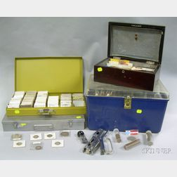 Collection of Assorted U.S. and World Currency, Coins, Tokens, and Assorted    Numismatic Supplies